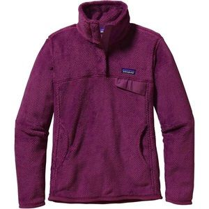 Patagonia re-tool snap-t pullover violet red